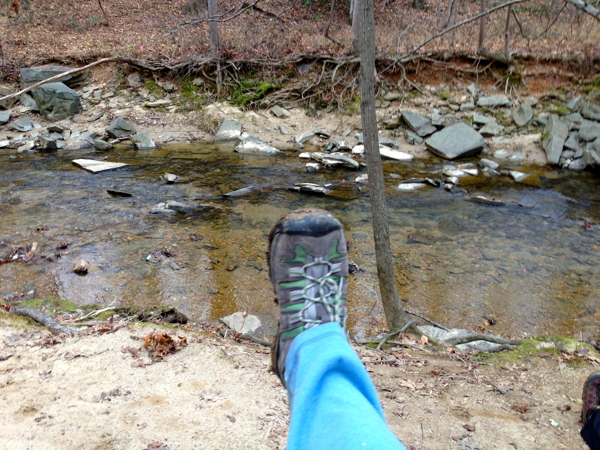 There are many small streams available for obligatory foot photos (OFPs).